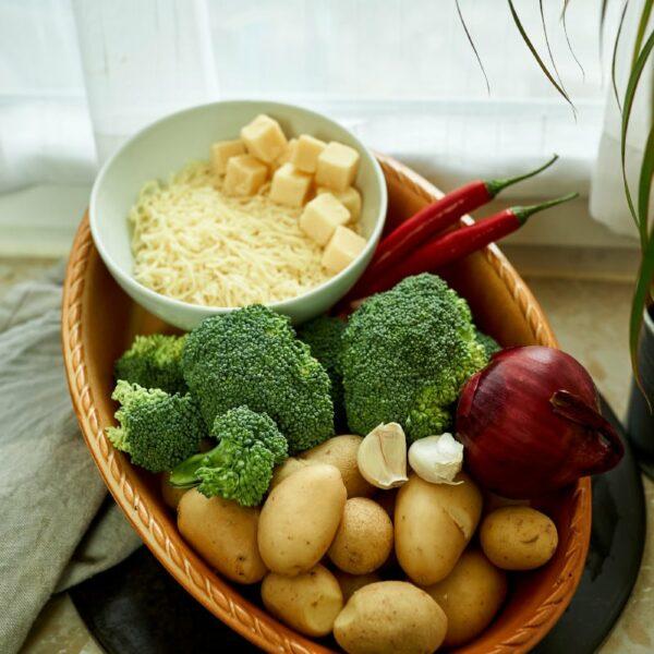 Die Zutaten für den Kartoffel Auflauf