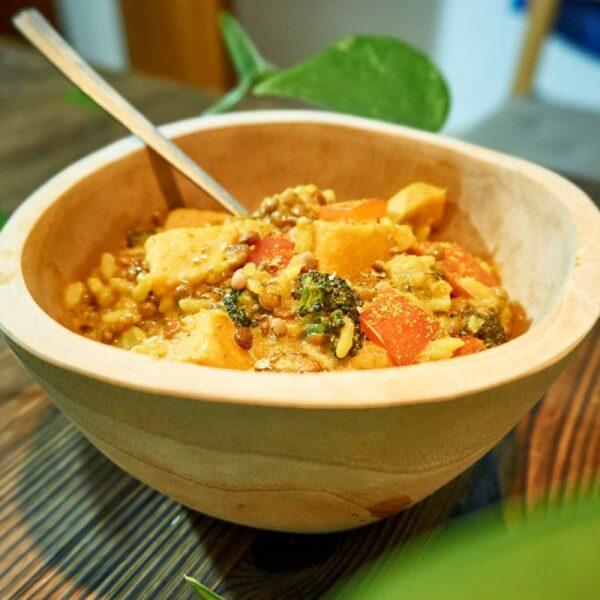 Curry mit Linsen