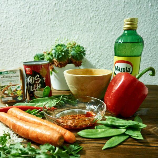 Zutaten fürs Linsen Curry