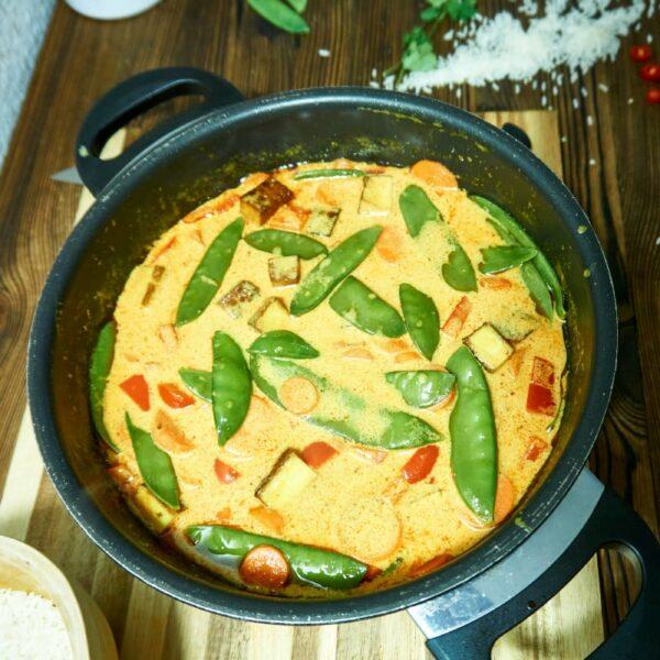 Curry mit Bohnen und Gemüse