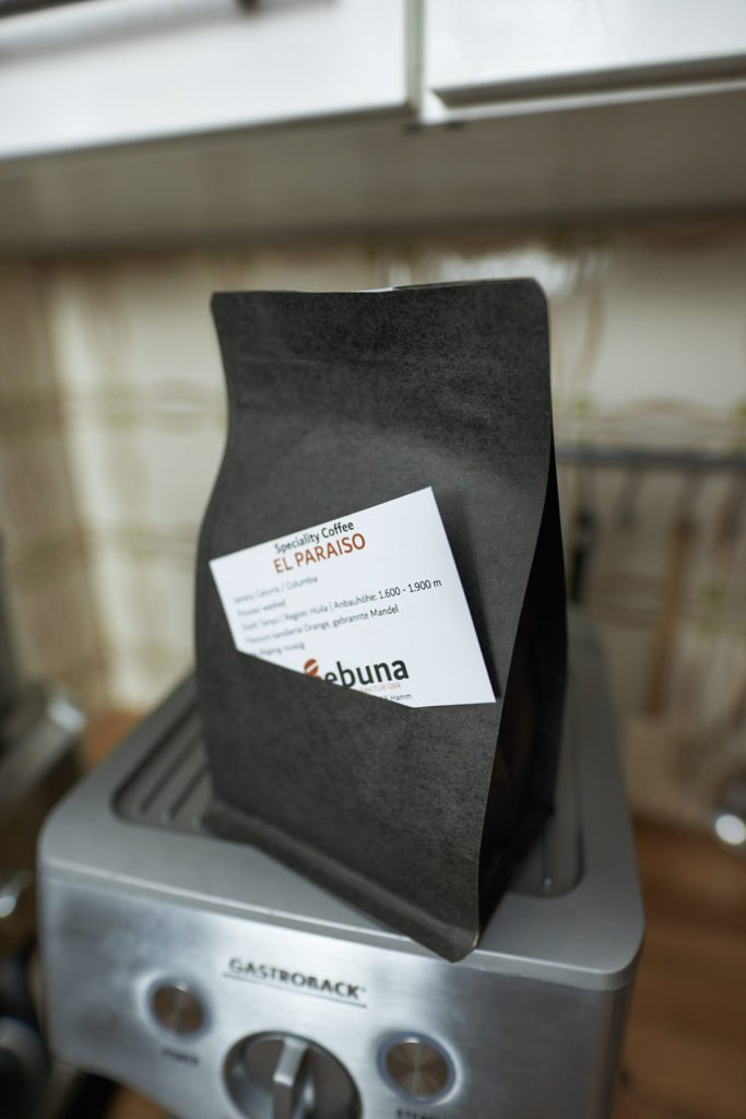 Espresso Bohnen Verpackung