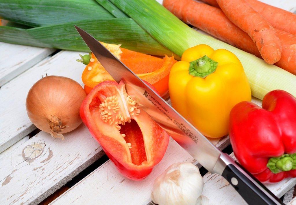 Schneidetechnik für Gemüse