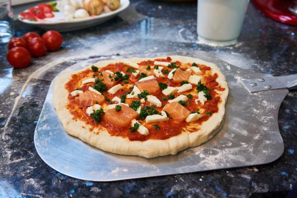 Glasierter Pizzastein für Backofen