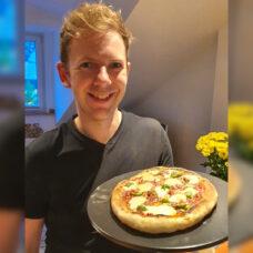 Julian von Lets Cook mit Esprevo Pizzastein